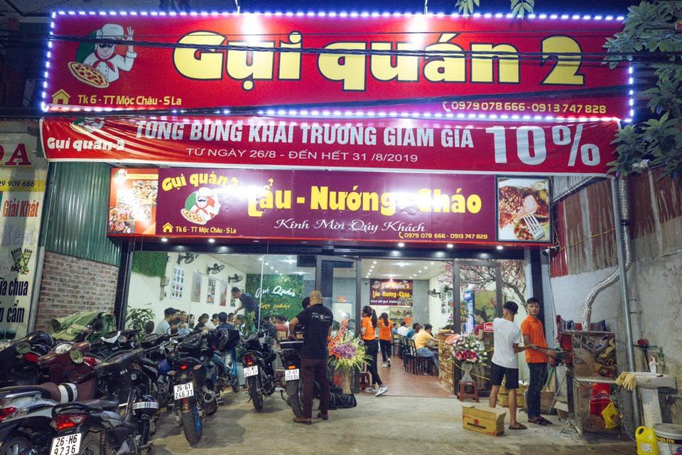 gui quan moc chau 04 - Top 7 nhà hàng Lẩu Nướng Ngon - Bổ -  Rẻ Tại Mộc Châu