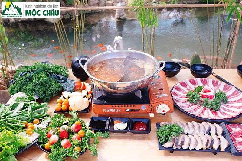 lau buffet 50k moc chau chimi farm 3 - Ăn Buffet Lẩu rau ở Mộc Châu chỉ với 49k/ 1 người | Chimi Farm