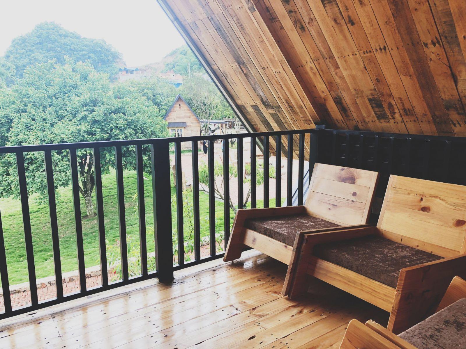không gian thư giãn của homestay lavalle Mộc Châu