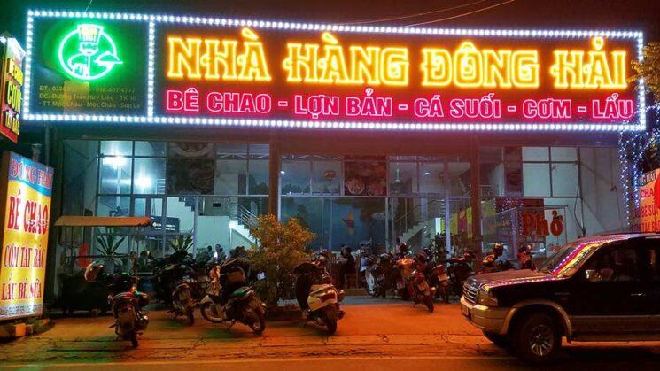 nha hang dong hai 745x419 - Top 5 Nhà hàng đặc sản ngon nhất Mộc Châu