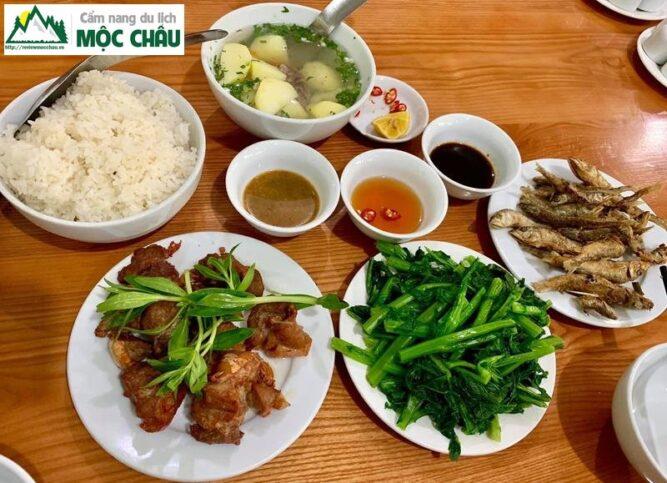 nha hang xuan bac moc chau 8 667x483 - Nhà hàng Xuân Bắc 181 Mộc Châu | ẩm thực đặc sản Mộc Châu