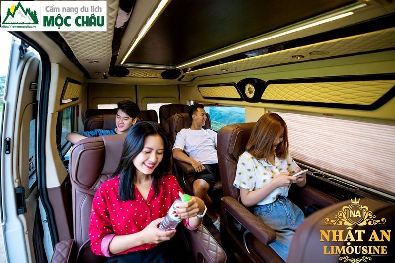 review xe limousine ha noi moc chau 11 - Review xe Limousine Hà Nội đi Mộc Châu từ A đến Z