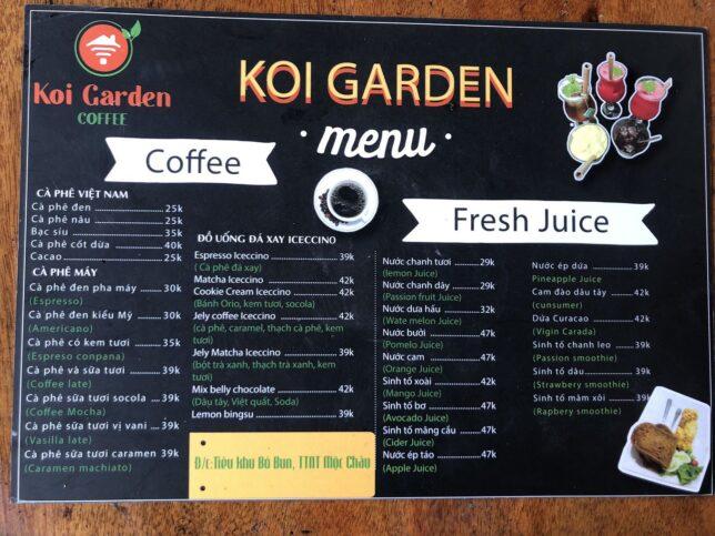 Koi garden Mộc Châu 644x483 - Koi Garden Mộc Châu quán caffee house cá koi đẹp nhất Mộc Châu