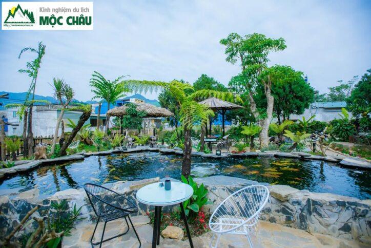 koi garden moc chau 26 724x483 - Koi Garden Mộc Châu quán caffee house cá koi đẹp nhất Mộc Châu